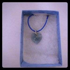 Jewelry - Sea Blue Crystal Heart Necklace